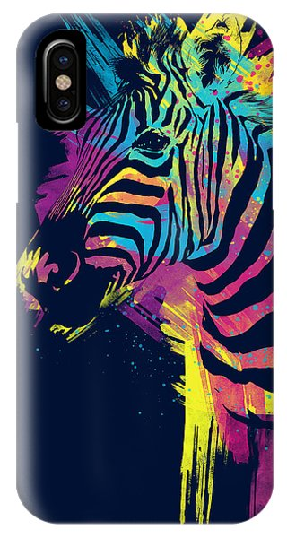 Colorful iPhone Case - Zebra Splatters by Olga Shvartsur