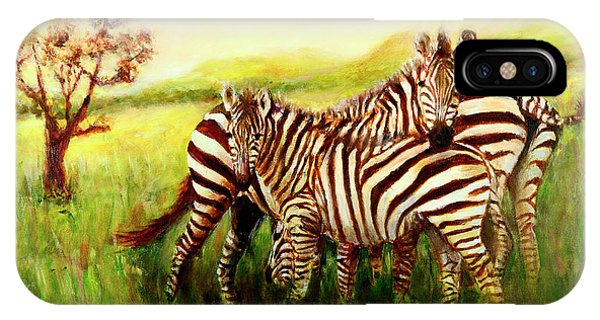 Zebras At Ngorongoro Crater IPhone Case