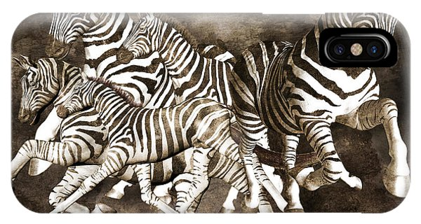 Rendering iPhone Case - Zebras by Betsy Knapp