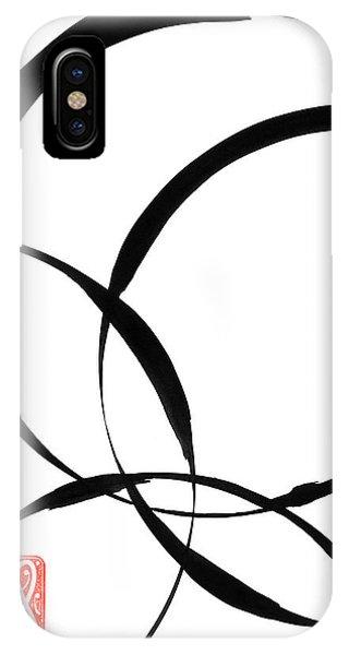 Meditative iPhone Case - Zen Circles 2 by Hakon Soreide