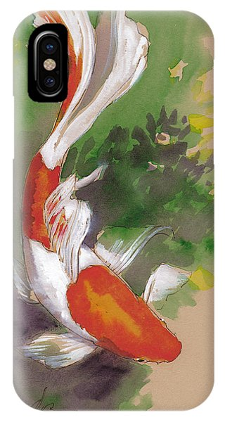 Koi iPhone Case - Zen Comet Goldfish by Tracie Thompson