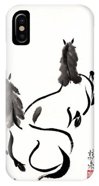 Zen Horses Retired IPhone Case
