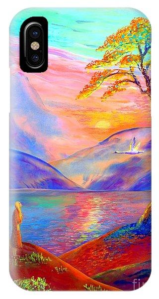 Flying Swan, Zen Moment IPhone Case
