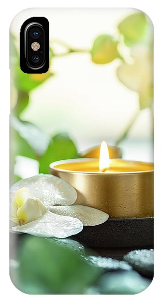 Zen Orchid And Candle Phone Case by #name?