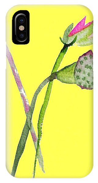 Zen Pink Lotus On Yellow Phone Case by Sacha Grossel
