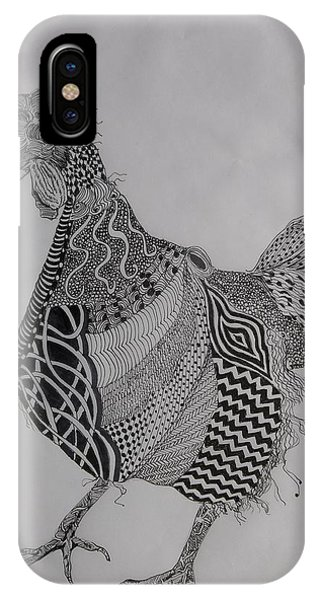 Zen Rooster Right IPhone Case