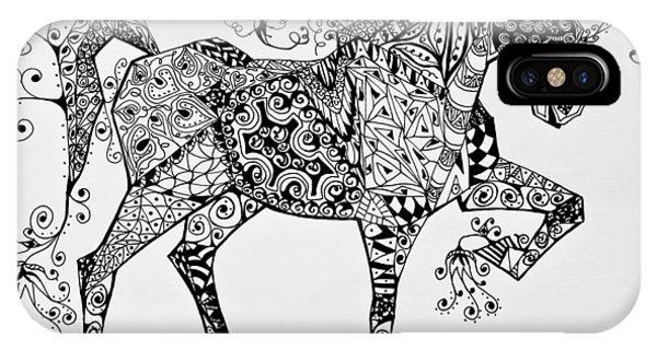 Zentangle Circus Horse IPhone Case