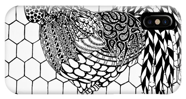 Zentangle Rooster IPhone Case