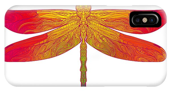 T Shirts iPhone Case - Zentangle Stylized Dragonfly. Ethnic by Gorbash Varvara