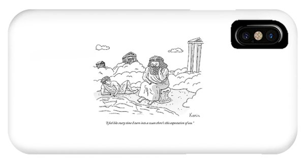 Zeus Speaks Gloomily To Hermes By A Pond IPhone Case