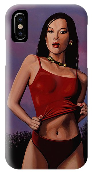 Dragon iPhone Case - Zhang Ziyi by Paul Meijering