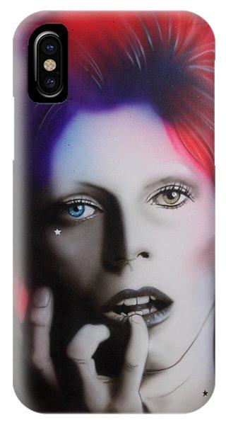 Celebrities iPhone Case - Ziggy Stardust by Christian Chapman Art