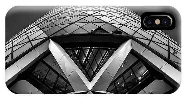 Abstract iPhone Case - Zigzag (the  Gherkin) by Ahmed Thabet