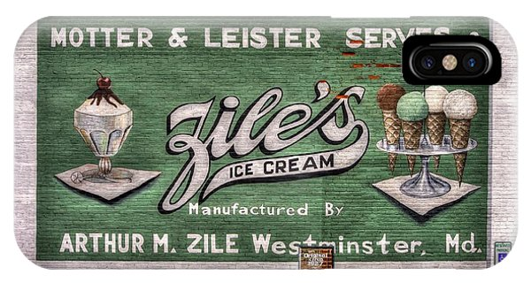Ziles Ice Cream Mural - Taneytown Carroll County Md IPhone Case