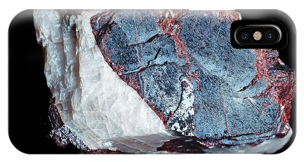 North London iPhone Case - Zincite Specimen by Natural History Museum, London/science Photo Library