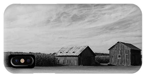 Zink Rd Farm 2 In Black And White IPhone Case