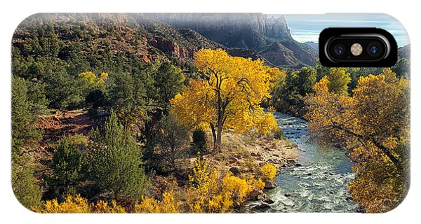 Zion National Park In Fall IPhone Case