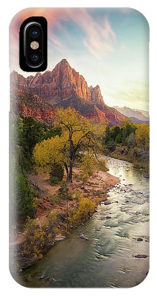 Us National Parks iPhone Case - Zion National Park by Michael Zheng
