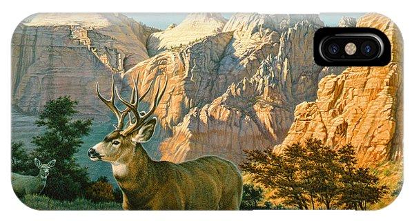 Mule Deer iPhone Case - Zioncountry Muleys by Paul Krapf