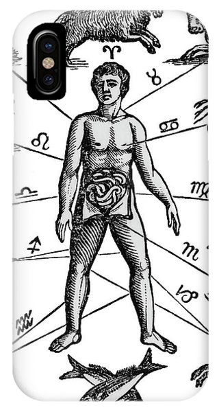 Centaur iPhone Case - Zodiac Man Drawing Relating Astrology by Vintage Images