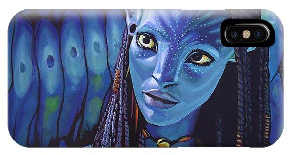 Glamour iPhone Case - Zoe Saldana As Neytiri In Avatar by Paul Meijering