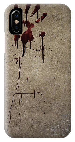 Zombie Attack - Bloodprint IPhone Case