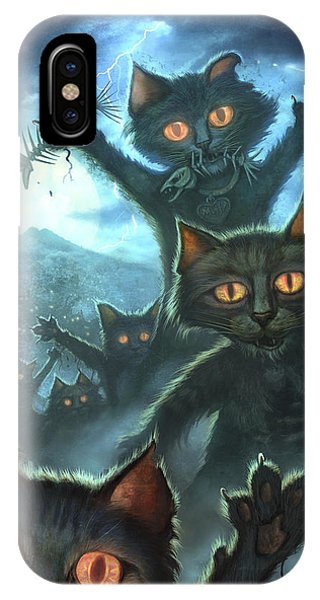 Dracula iPhone Case - Zombie Cats by Jeff Haynie