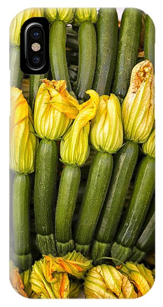 Zucchini Flowers Closeup IPhone Case