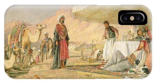 Caravan iPhone Case -  A Frank Encampment In The Desert Of Mount Sinai by John Frederick Lewis