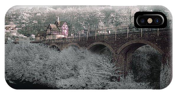 Infrared Train Station Bridge IPhone Case
