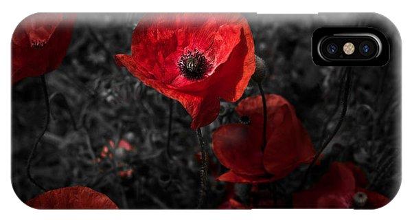Poppy Red IPhone Case