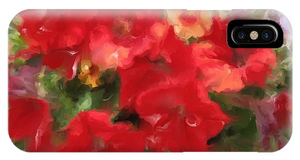 Red Petunia IPhone Case