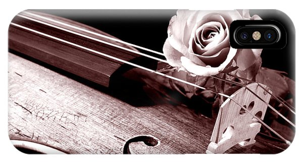 Rose Violin Viola IPhone Case