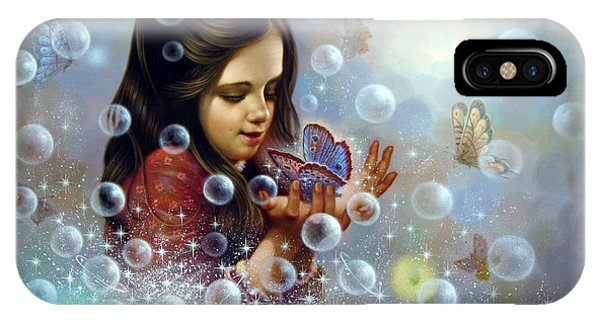 Soap Bubble Girl 2 IPhone Case
