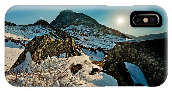 Spring Snows At Tryfan IPhone Case