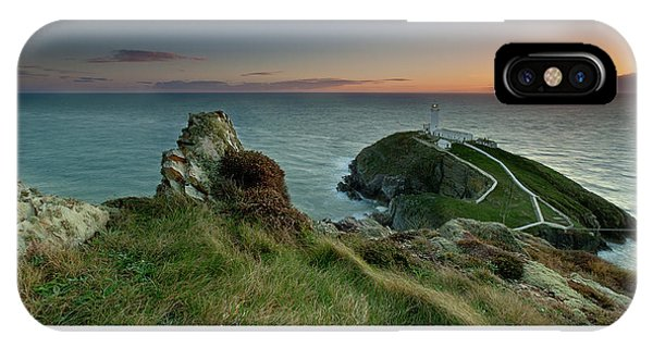 Sunset At South Stack Lighthouse IPhone Case