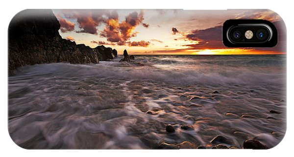 Sunset Tides - Porth Swtan IPhone Case