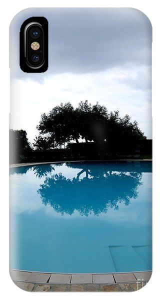 Tree At The Pool On Amalfi Coast IPhone Case