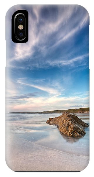 Welsh Coast - Porth Colmon IPhone Case