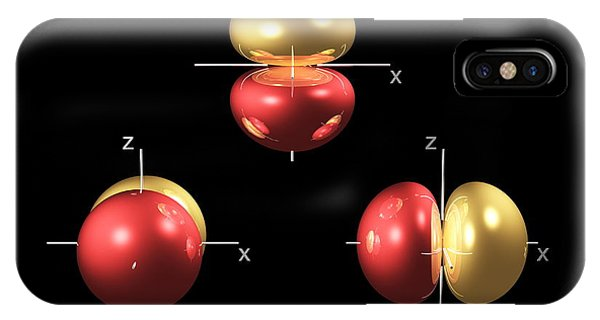 2p Electron Orbitals Phone Case by Dr Mark J. Winter