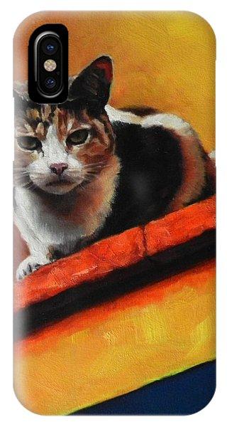 A Top Cat In The Shadow, Peru Impression IPhone Case