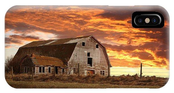 Barn On Highway 21 IPhone Case