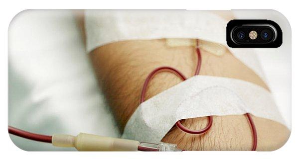Blood Transfusion Phone Case by Mauro Fermariello