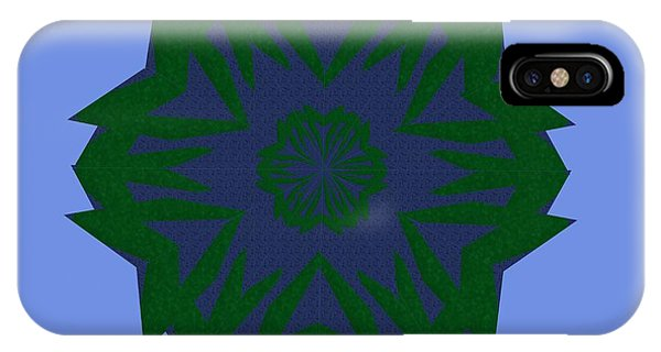 Blue And Green Kaleidoscope IPhone Case