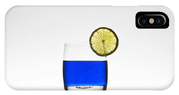Blue Cocktail With Lemon IPhone Case