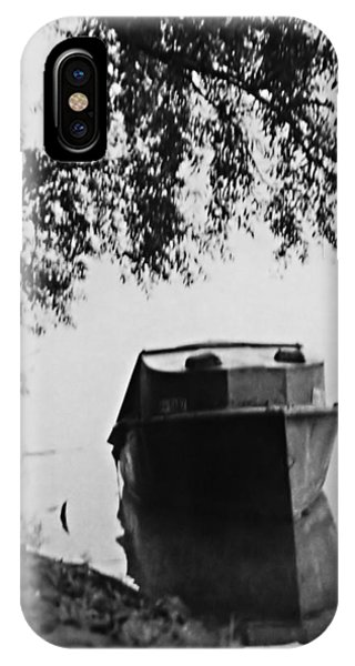 Boat On Foggy Rhine IPhone Case