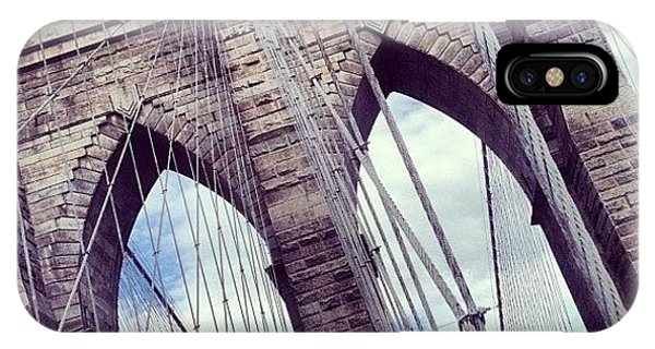 Instagram iPhone Case - Brooklyn Bridge by Randy Lemoine
