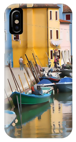 Burano Canal Scene IPhone Case