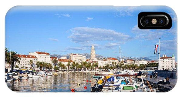 Powerboat iPhone Case - City Of Split In Croatia by Artur Bogacki