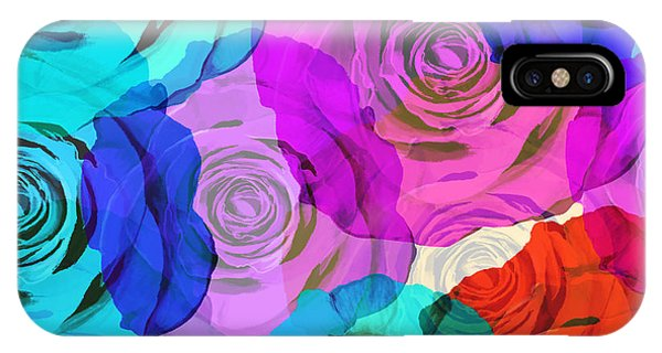 Rose iPhone X / XS Case - Colorful Roses Design by Setsiri Silapasuwanchai